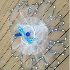 Кастинговая рыболовная сеть парашют Ø4М ЯЧ.12ММ  с кольцом (ЛЕСКА)